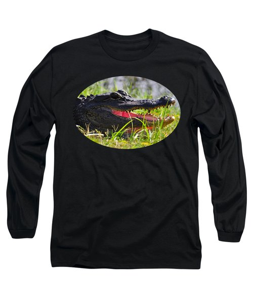 Gator Grin .png Long Sleeve T-Shirt by Al Powell Photography USA