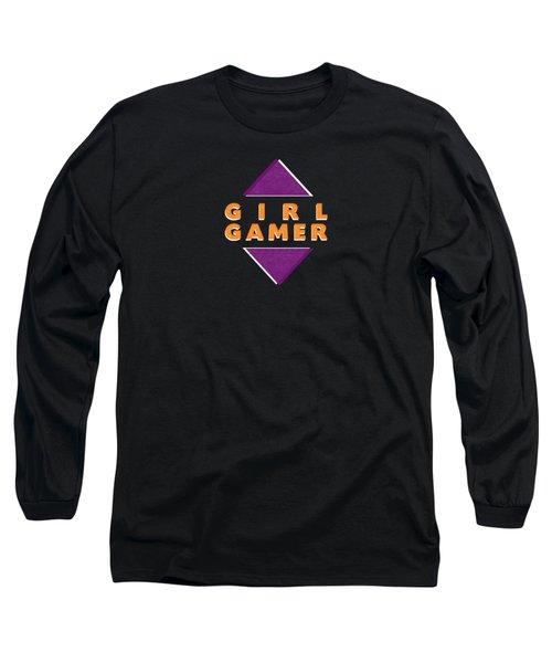 Girl Gamer Long Sleeve T-Shirt by Linda Woods