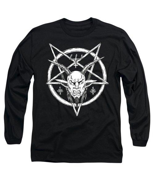 Goatlord Logo Black Long Sleeve T-Shirt by Alaric Barca
