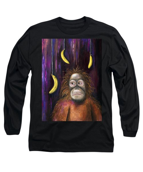 Going Bananas Long Sleeve T-Shirt by Leah Saulnier The Painting Maniac