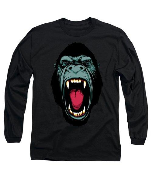 Gorilla Face Long Sleeve T-Shirt by John D'Amelio
