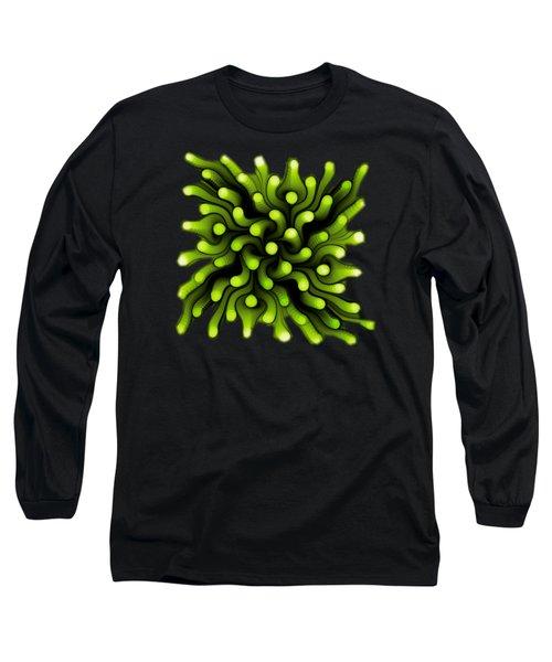 Green Sea Anemone Long Sleeve T-Shirt by Anastasiya Malakhova