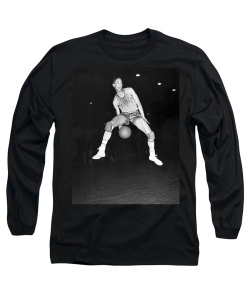 Harlem Clowns Basketball Long Sleeve T-Shirt by Underwood Archives