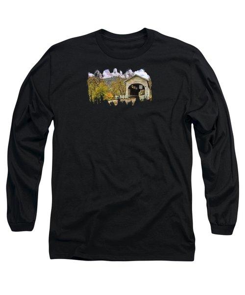 Harris Covered Bridge Long Sleeve T-Shirt by Thom Zehrfeld