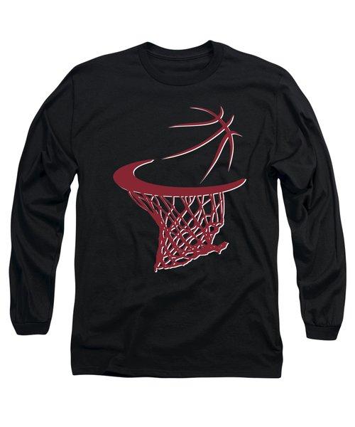 Heat Basketball Hoop Long Sleeve T-Shirt by Joe Hamilton