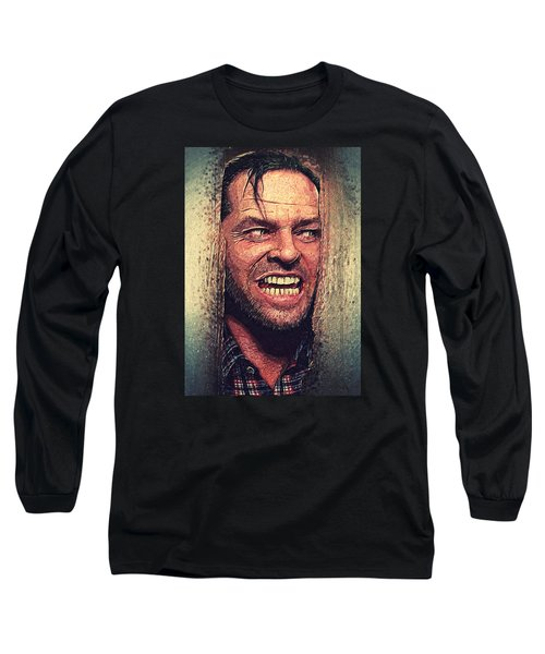 Here's Johnny - The Shining  Long Sleeve T-Shirt by Taylan Soyturk
