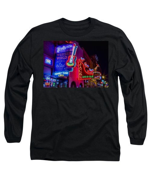 Honky Tonk Broadway Long Sleeve T-Shirt by Stephen Stookey