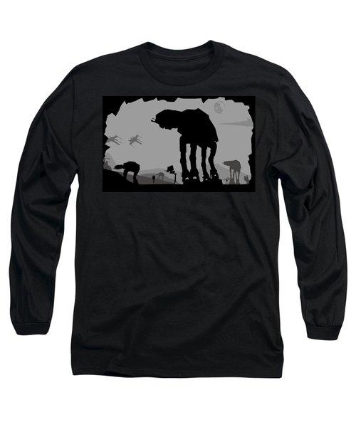 Hoth Machines Long Sleeve T-Shirt by Michael Bergman
