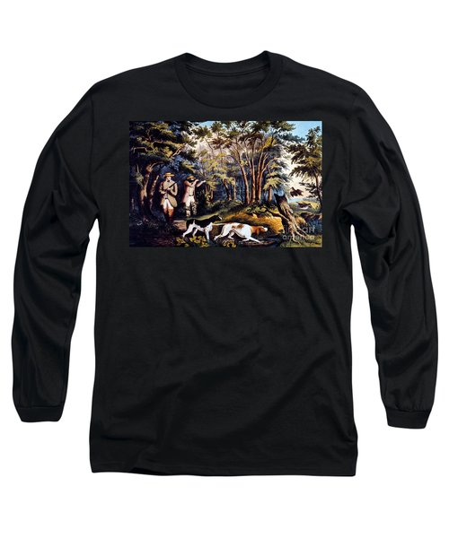Hunting: Woodcock, 1852 Long Sleeve T-Shirt by Granger
