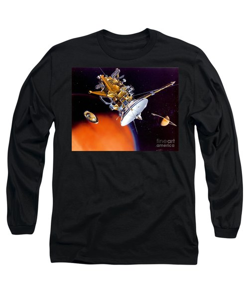 Huygens Probe Separating Long Sleeve T-Shirt by NASA and Photo Researchers