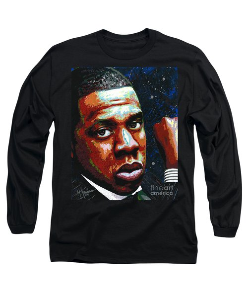 I Am Jay Z Long Sleeve T-Shirt by Maria Arango