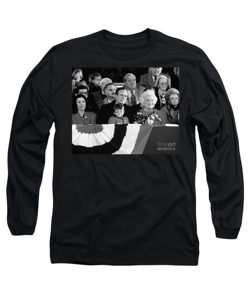 Inauguration Of George Bush Sr Long Sleeve T-Shirt by H. Armstrong Roberts/ClassicStock