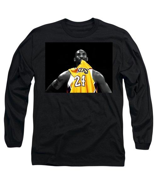 Kobe Bryant 04c Long Sleeve T-Shirt by Brian Reaves