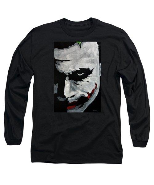 Ledger's Joker Long Sleeve T-Shirt by Dale Loos Jr