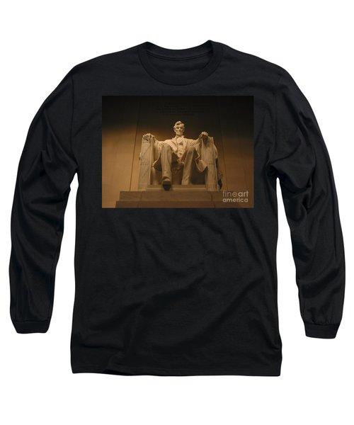 Lincoln Memorial Long Sleeve T-Shirt by Brian McDunn