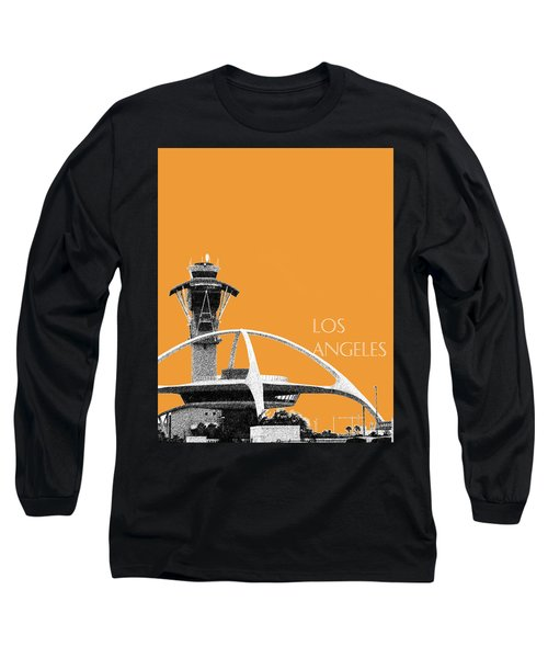 Los Angeles Skyline Lax Spider - Orange Long Sleeve T-Shirt by DB Artist