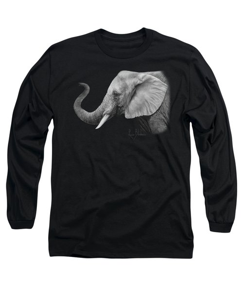 Lucky - Black And White Long Sleeve T-Shirt by Lucie Bilodeau