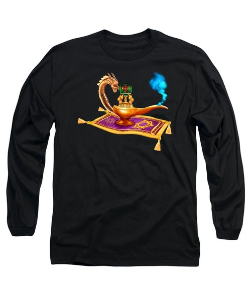 Magical Dragon Lamp Long Sleeve T-Shirt by Glenn Holbrook