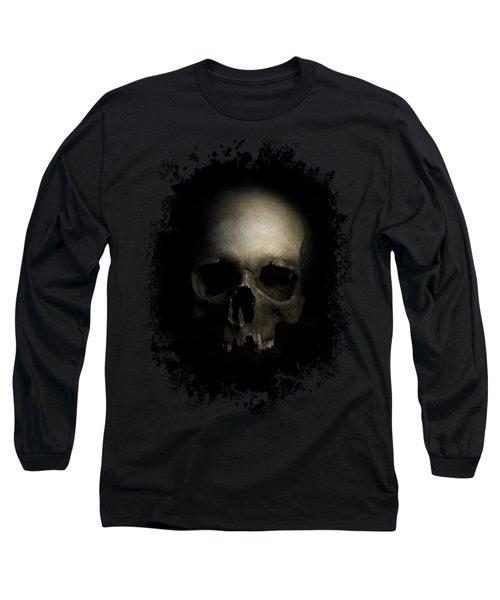 Male Skull Long Sleeve T-Shirt by Jaroslaw Blaminsky