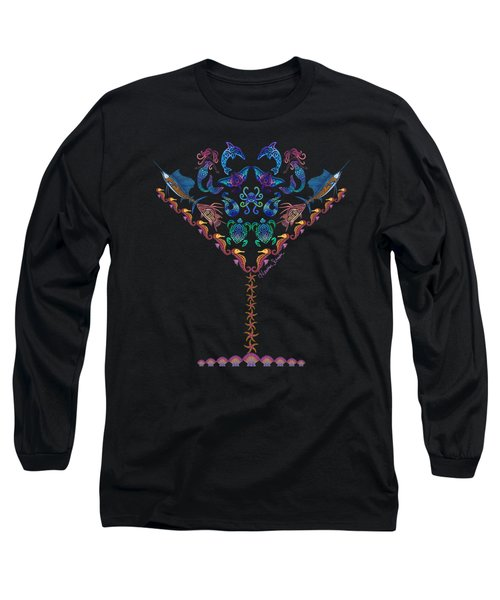 Marine Martini Long Sleeve T-Shirt by Heather Schaefer