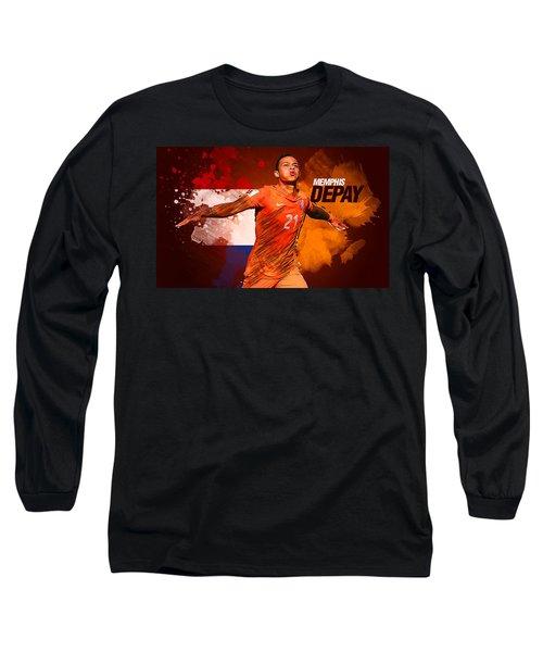 Memphis Depay Long Sleeve T-Shirt by Semih Yurdabak