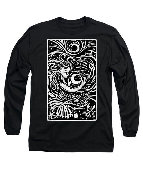 Mermaid Moon Long Sleeve T-Shirt by Katherine Nutt