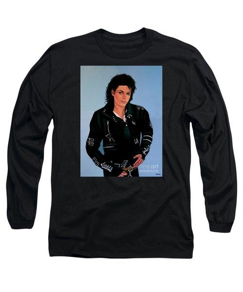 Michael Jackson Bad Long Sleeve T-Shirt by Paul Meijering
