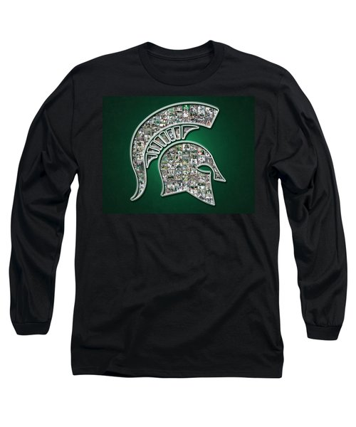 Michigan State Spartans Football Long Sleeve T-Shirt by Fairchild Art Studio
