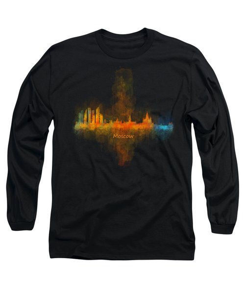 Moscow City Skyline Hq V4 Long Sleeve T-Shirt by HQ Photo