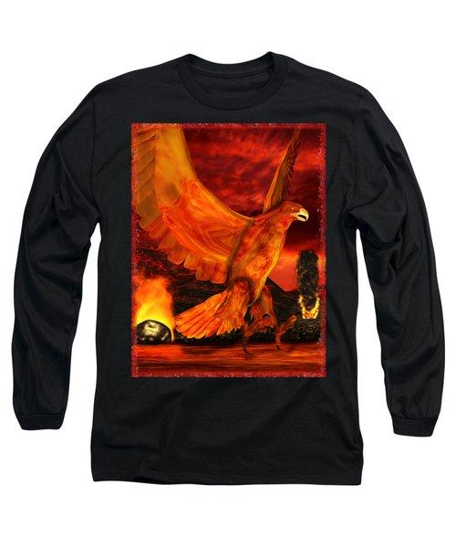 Myth Series 3 Phoenix Fire Long Sleeve T-Shirt by Sharon and Renee Lozen