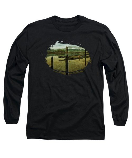 Nehalem Bay Reflections Long Sleeve T-Shirt by Thom Zehrfeld