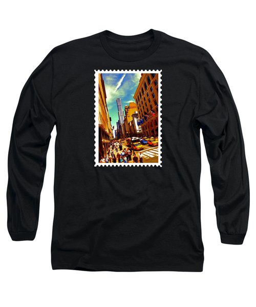 New York City Hustle Long Sleeve T-Shirt by Elaine Plesser