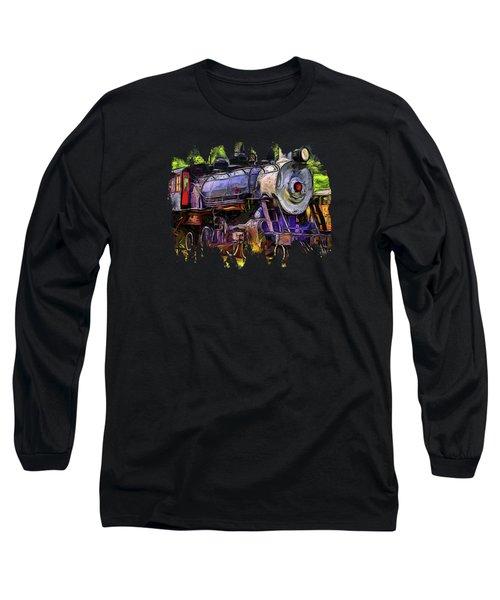 Old Locomotive No.90 Version 2 Long Sleeve T-Shirt by Thom Zehrfeld
