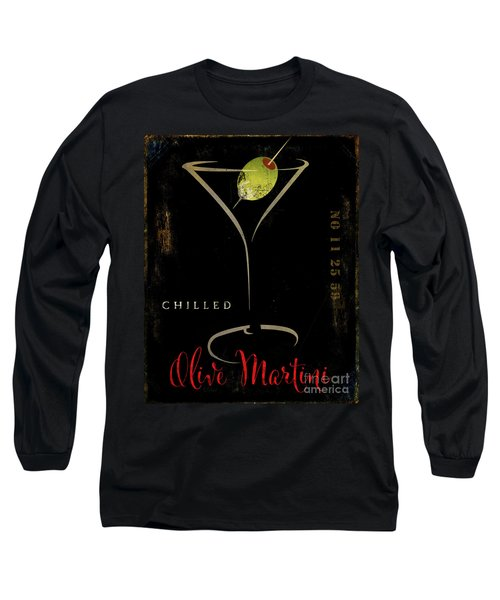 Olive Martini Long Sleeve T-Shirt by Mindy Sommers