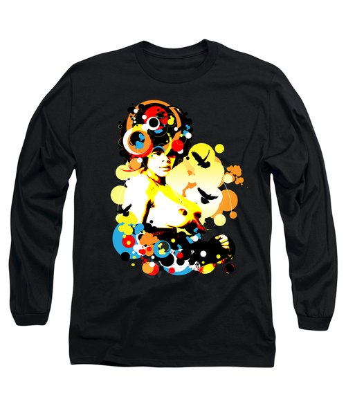 Onyx Doves Long Sleeve T-Shirt by Chris Andruskiewicz
