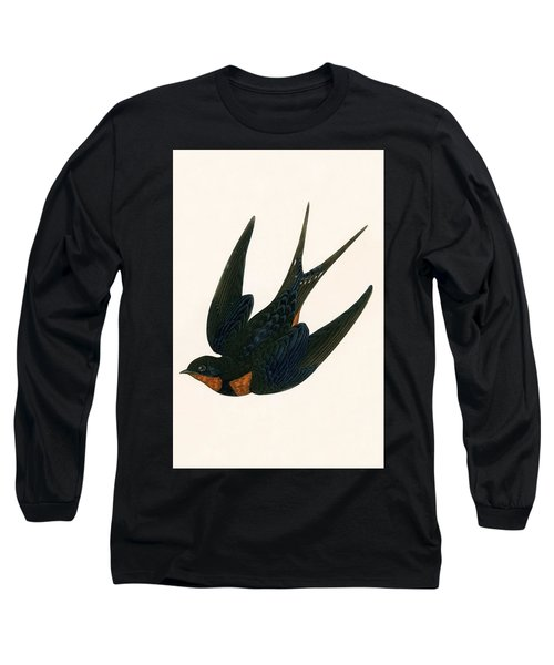 Oriental Chimney Swallow Long Sleeve T-Shirt by English School