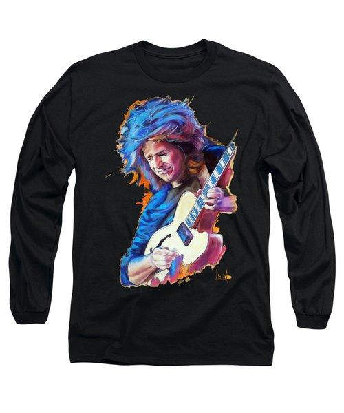 Pat Metheny Long Sleeve T-Shirt by Melanie D