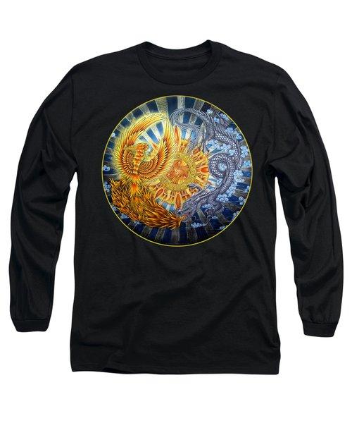 Phoenix And Dragon Long Sleeve T-Shirt by Rebecca Wang