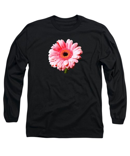 Pink Gerbera Long Sleeve T-Shirt by Scott Carruthers