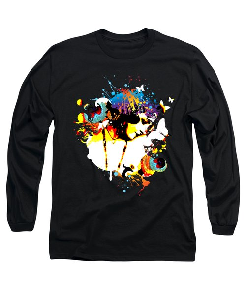 Poetic Peacock - Bespattered Long Sleeve T-Shirt by Chris Andruskiewicz