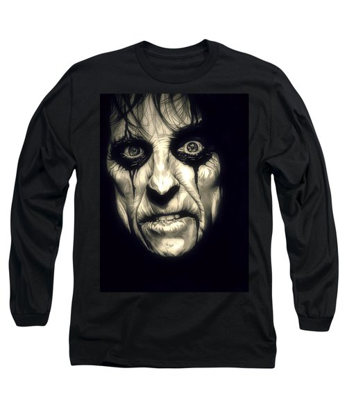 Poison Alice Cooper Long Sleeve T-Shirt by Fred Larucci