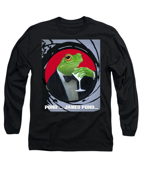Pond...james Pond... Long Sleeve T-Shirt by Will Bullas