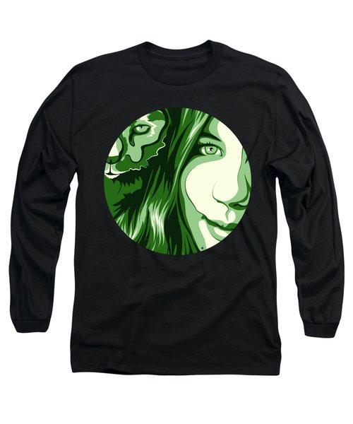 Portrait Long Sleeve T-Shirt by Carolina Matthes