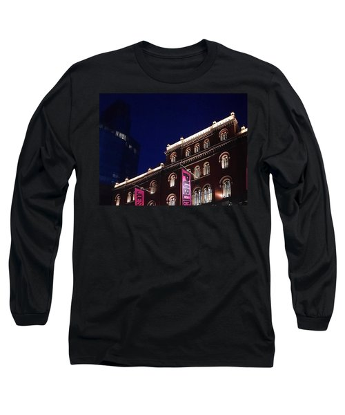 Public Theater Nyc  Long Sleeve T-Shirt by Sandy Taylor