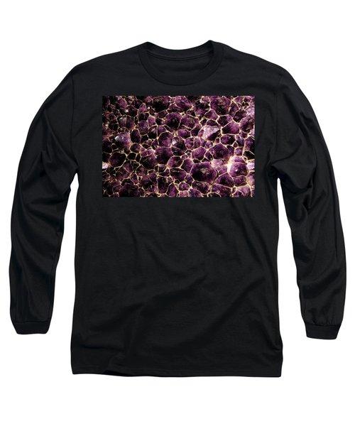 Purple Quartz  Amethyst Long Sleeve T-Shirt by LeeAnn McLaneGoetz McLaneGoetzStudioLLCcom