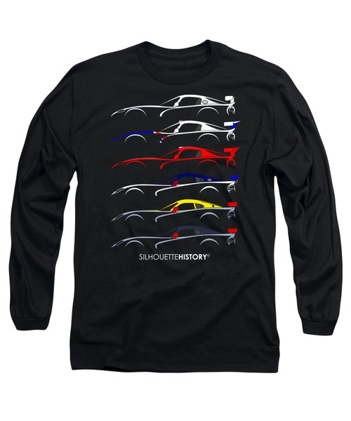 Racing Snake Silhouettehistory Long Sleeve T-Shirt by Gabor Vida