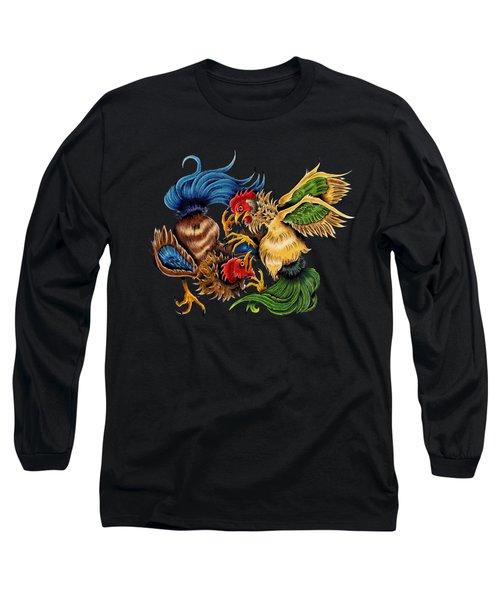 Rawkin' Cawks Long Sleeve T-Shirt by Vicki Von Doom
