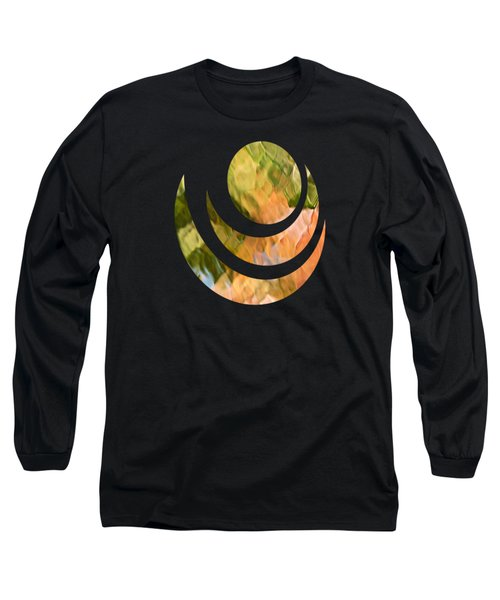 Salmon Mosaic Abstract Long Sleeve T-Shirt by Christina Rollo