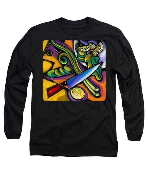Tasty Salad Long Sleeve T-Shirt by Leon Zernitsky