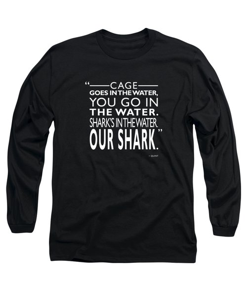 Sharks In The Water Long Sleeve T-Shirt by Mark Rogan